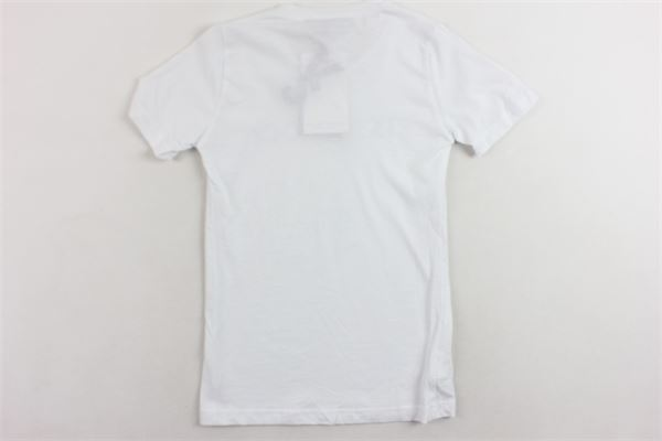 t-shirt mezza manica tinta unita con stampa VICTORIA & STELLA | T-shirts | VSK824BIANCO