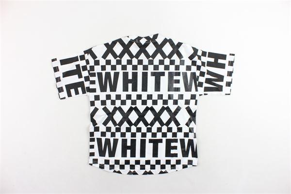 t-shirt mezza manica con stampa modello over WHITE KIDS | T-shirts | WH0204USBIANCO