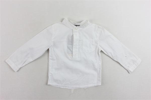 camicia in cotone collo coreano e taschino YELLOWSUB | Camicie | 41141324000BIANCO