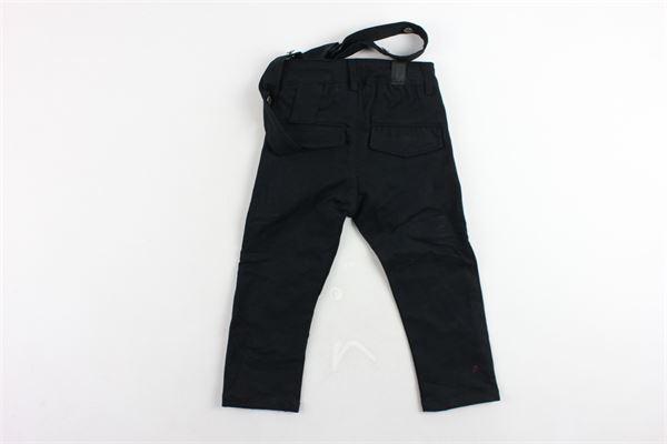 pantalone tinta unita girovita regolabile zip alle tasche con bretella YES LONDON | Pantaloni | AN5004NERO