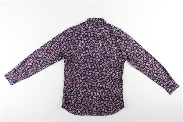 camicia manica lunga tinta unita stampa fantasia 820 CALIBAN | Camicie | 1U24FLBFL1BLU