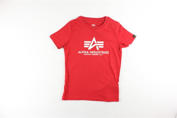 t-shirt tinta unita con stampa ALPHA INDUSTRIES | T-shirts | 196703ROSSO