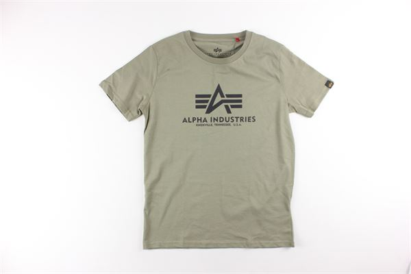 t-shirt tinta unita con stampa ALPHA INDUSTRIES | T-shirts | 196703VERDE