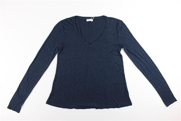 shirt tinta unita AMERICAN VINTAGE | Shirts | KOBI58BLU