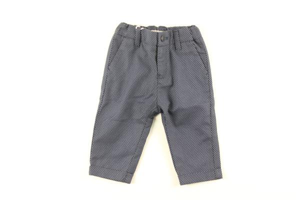 pantalone tinta unita microfantasia con girovita regolabile ARMANI JUNIOR   Pantaloni   3YHP01BLU