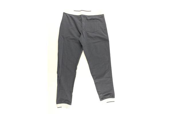 pantalone tuta tinta unita con profili in contrasto ARMANI JUNIOR   Pantaloni   3Z4P01BLU