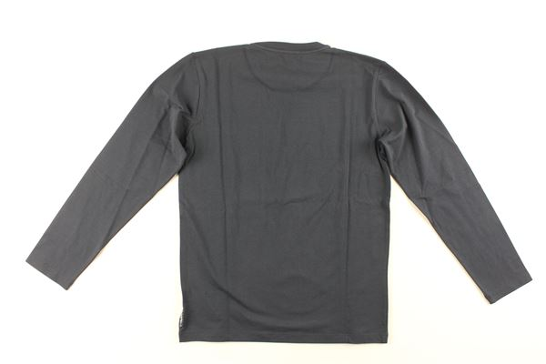 shirt tinta unita con stampa ARMANI JUNIOR   Shirts   3Z4T06BLU