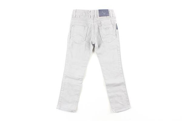 jeans tinta unita con girovita regolabile ARMANI JUNIOR   Jeans   3ZAJ16GRIGIO