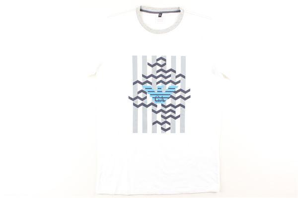 t-shirt tinta unita con stampa ARMANI JUNIOR   T-shirts   3ZD01BIANCO