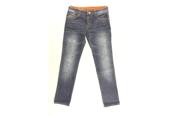 jeans tinta unita con elastico in contrasto ARMANI JUNIOR   Jeans   6X4J17BLU