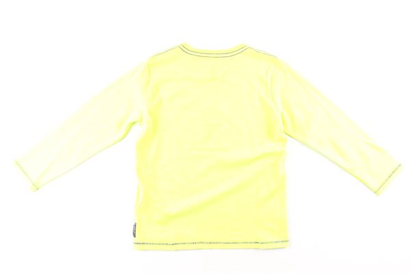 shirt tinta unita con stampa ARMANI JUNIOR   Shirts   6X4T16VERDE FLUO