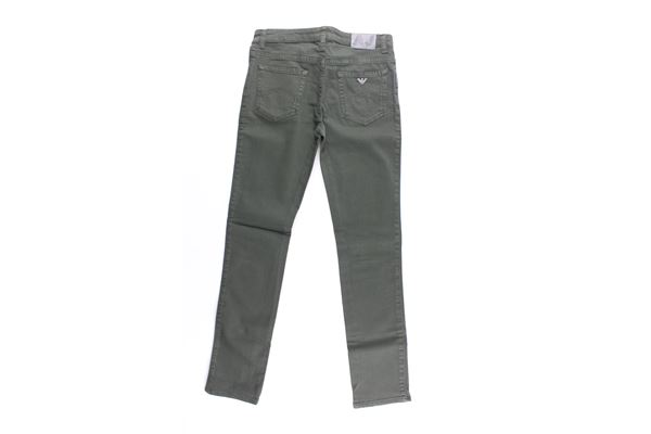 jeans tinta unita 5 tasche ARMANI JUNIOR   Jeans   6Y4J15VERDE