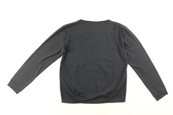 shirt tinta unita con stampa ARMANI JUNIOR   Shirts   7V3M13BLU