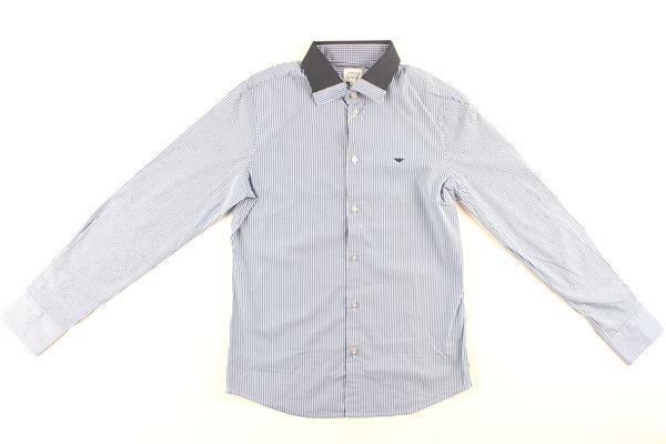 camicia manica lunga fantasia a righe ARMANI JUNIOR   Camicie   B4C02BLU