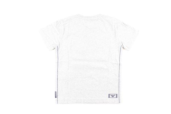 t-shirt tinta unita con stampa ARMANI JUNIOR   T-shirts   B4H09XGRIGIO