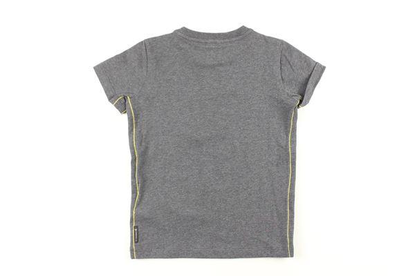 t-shirt tinta unita con stampe ARMANI JUNIOR   T-shirts   BXH04GRIGIO