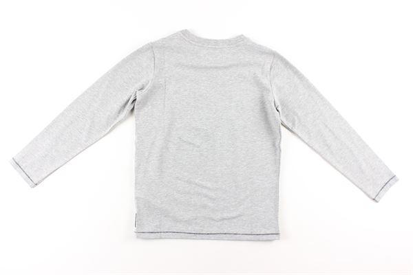 shirt tinta unita con stampa ARMANI JUNIOR   Shirts   BXH08GRIGIO