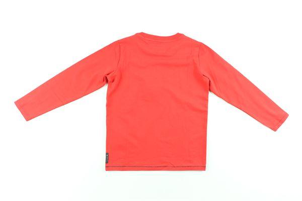 shirt tinta unita con stampa ARMANI JUNIOR   Shirts   BXH08ROSSO
