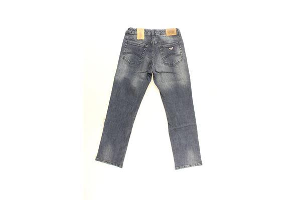 jeans tinta unita con girovita regolabile ARMANI JUNIOR   Jeans   BXJ05BLU