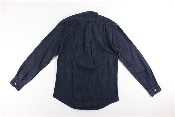 camicia tinta unita in denim ASPESI | Camicie | CE14BLU