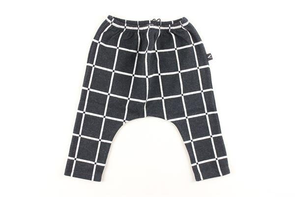 pantalone fantasia a quadri AVENTIQUATTRORE   Pantaloni   A240211NERO