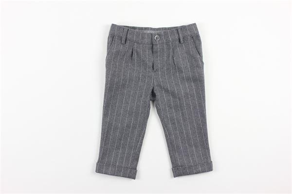 pantalone tasca america tinta unita fantasia a righe girovita regolabile BABY A. | Pantaloni | L1262GRIGIO