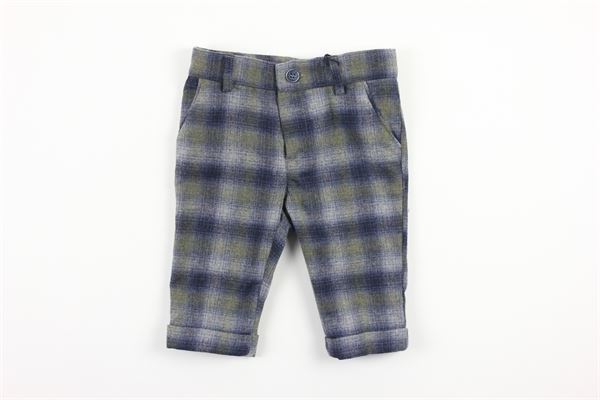 pantalone tasca america fantasia a quadri girovita regolabile BABY A. | Pantaloni | L1674/GBLU