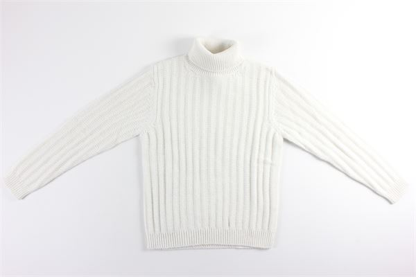 maglia collo alto microfantasia BELLWOOD | Maglie | 320G2004/021BIANCO