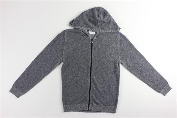 maglia con zip e cappuccio tinta unita BELLWOOD | Maglie | 320H5039/7222GRIGIO