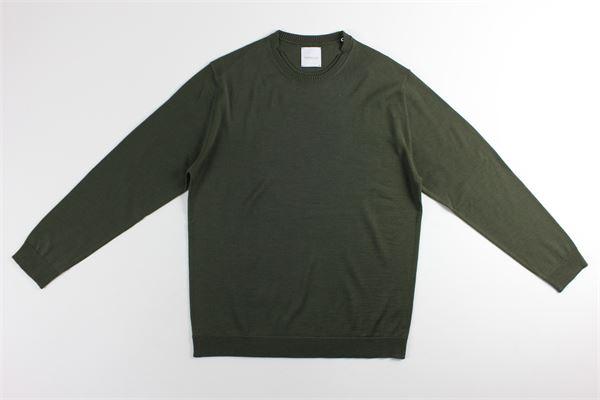 maglia girocollo tinta unita BELLWOOD | Maglie | 320M0021VERDE MILITARE