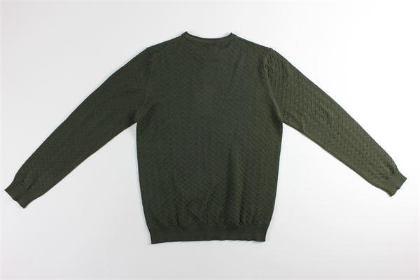 maglia girocollo tinta unita BELLWOOD | Maglie | 320M0501VERDE MILITARE
