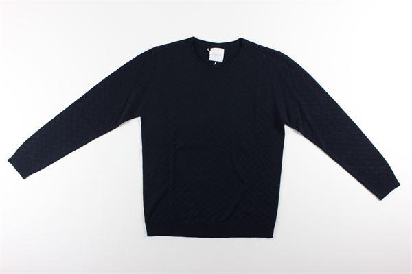 maglia girocollo tinta unita con microfantasia BELLWOOD | Maglie | 329R0801BLU