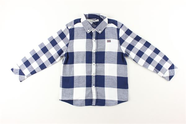 camicia fantasia a quadri manica lunga BIRBA | Camicie | 99990012BLU