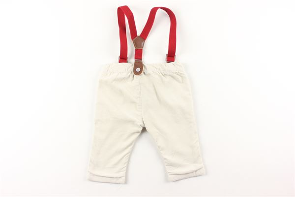 pantalone in velluto tinta unita con bretelle BIRBA | Pantaloni | 99992006BEIGE