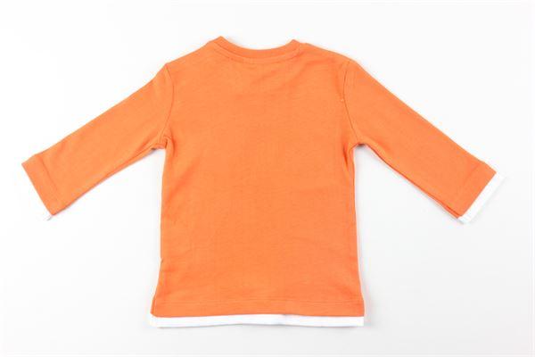 shirt tinta unita con stampa BIRBA | Shirts | 99994063ARANCIO