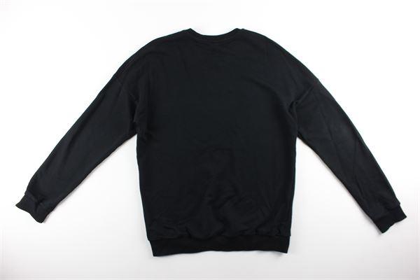 felpa girocollo tinta unita con stampa 100%cotone BLACK CIRCUS | Felpe | BC01NERO