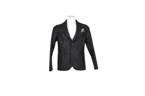 giacca tinta unita fantasia a righe BOB | Giacche | STAF282BLU