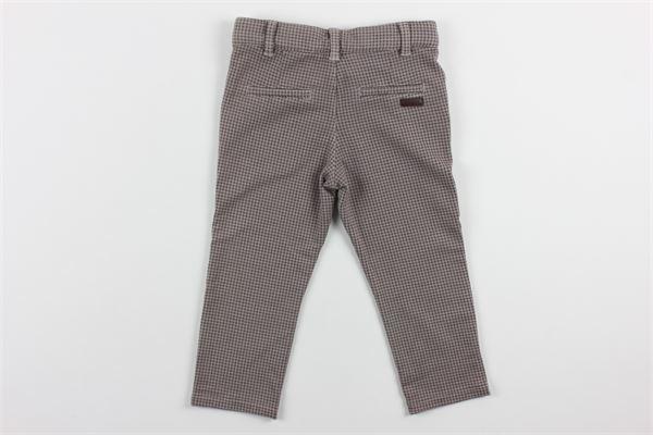 pantalone microfantasia con girovita regolabile BOBOLI | Pantaloni | 321095MARRONE