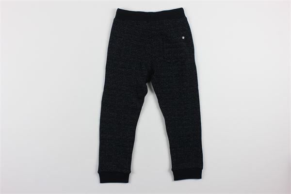 pantalone tuta tinta unita con microfantasia BOBOLI | Pantaloni | 341097NERO