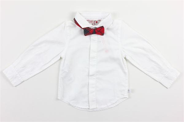 camicia tinta unita con papillons stampa fantasia BOBOLI | Camicie | 711010BIANCO