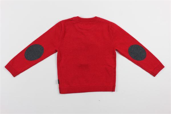 maglia tinta unita con stampa BOBOLI | Maglie | 711144ROSSO