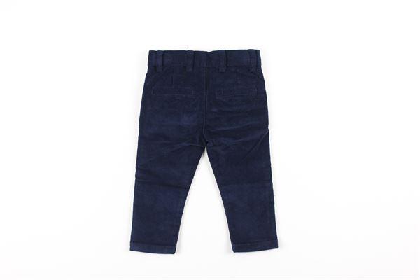 pantalone tinta unita in velluto girovita regolabile BOBOLI | Pantaloni | 711245BLU