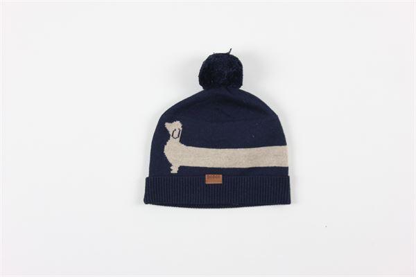cappello tinta unita con pon pon BOBOLI | Cappelli | 711346BLU