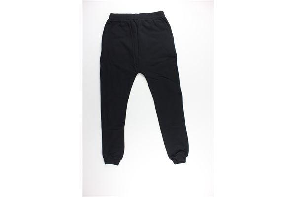 pantalone tuta tinta unita con stampa BOY LONDON | Pantaloni | BLN011NERO