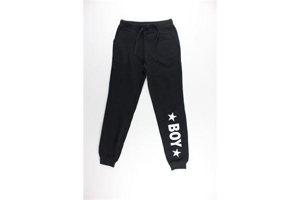 pantalone tuta tinta unita con stampa BOY LONDON | Pantaloni | BLN01NERO
