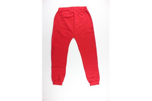 pantalone tuta tinta unita con stampa BOY LONDON | Pantaloni | BLN01ROSSO