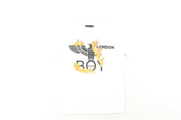 t-shirt tinta unita con stampa BOY LONDON | T-shirts | TSBL0312JBIANCO