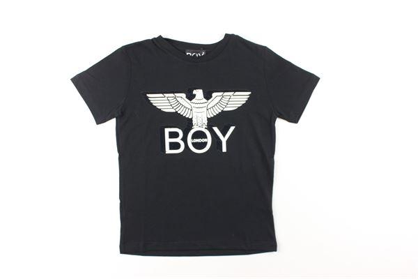 t-shirt tinta unita con stampa BOY LONDON | T-shirts | TSBL0313JNERO