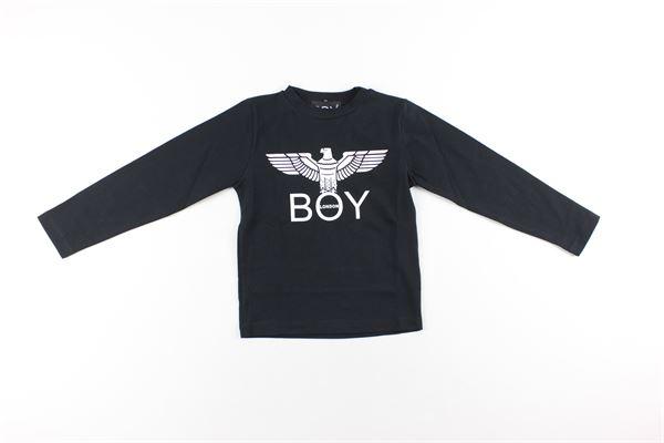 shirt tinta unita con stampa BOY LONDON | Shirts | TSBL183201BNERO