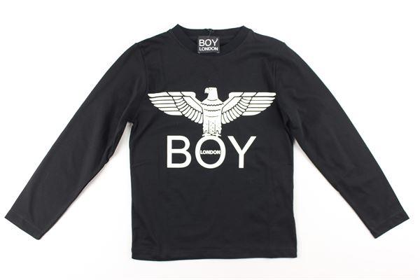shirt tinta unita con stampa BOY LONDON | Shirts | TSBL183201JNERO